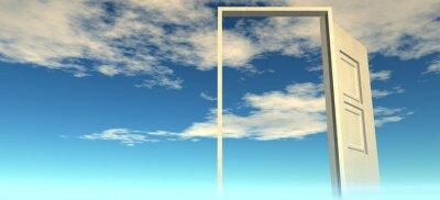 Vinilo Hermosa vista del cielo. Puertas al cielo.