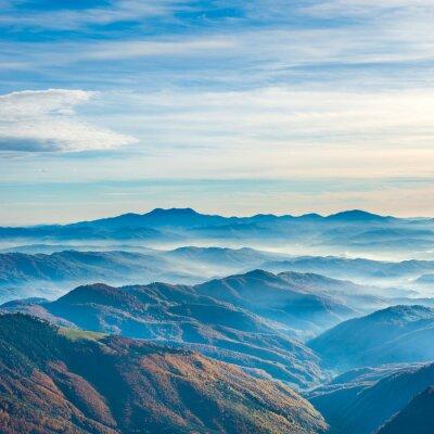 Vinilo Hermosas montañas y colinas azules