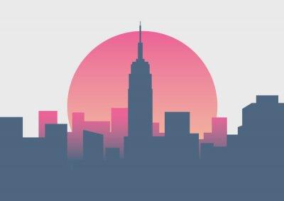 Vinilo Hermoso amanecer de Nueva York amanecer mínimo