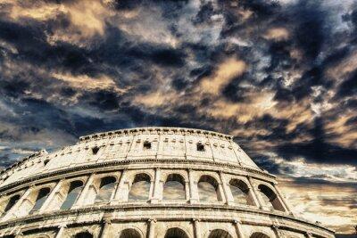 Vinilo Hermoso cielo sobre Coliseo en Roma