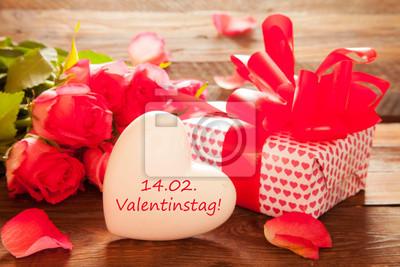 Vinilo Herz zum Valentinstag