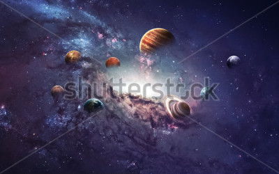 Vinilo High resolution images presents creating planets of the solar system. This image elements furnished by NASA.
