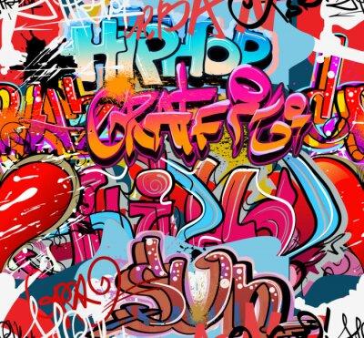 Vinilo Hip hop de graffiti arte urbano de fondo