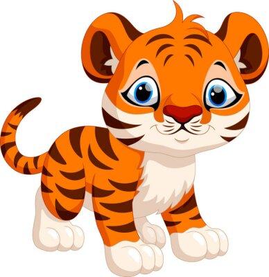 Vinilo Historieta linda del tigre