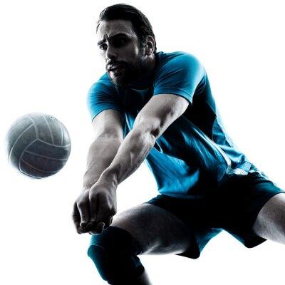 Vinilo Hombre de voleibol silueta