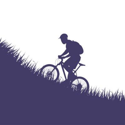 Vinilo hombre en la silueta de la bicicleta