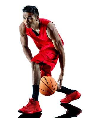 Vinilo Hombre jugador de baloncesto aislados silueta