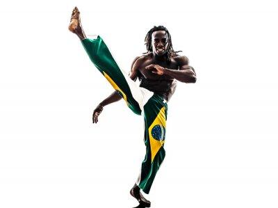 Vinilo Hombre negro bailarina brasileña capoeira silueta bailando
