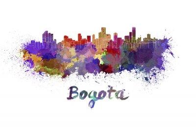 Vinilo Horizonte de Bogotá en acuarela