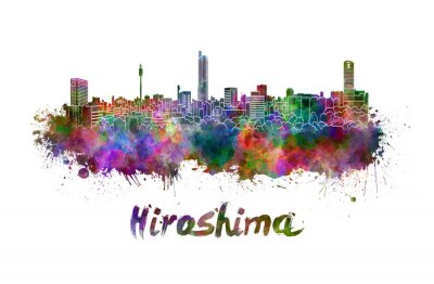 Vinilo Horizonte de Hiroshima en acuarela