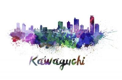 Vinilo Horizonte de Kawaguchi en acuarela