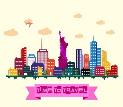 Vinilo Horizonte de la ciudad de Nueva York