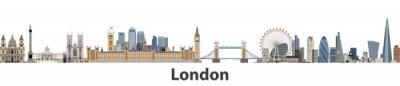 Vinilo Horizonte de la ciudad de vector de Londres