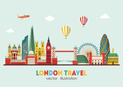 Vinilo Horizonte de Londres resumen. Ilustración vectorial - vectoriales