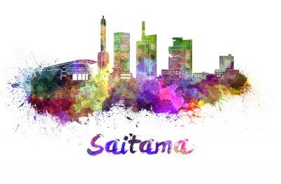 Vinilo Horizonte de Saitama en acuarela