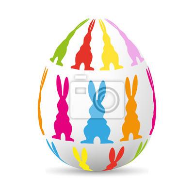 Huevo con conejo de Pascua