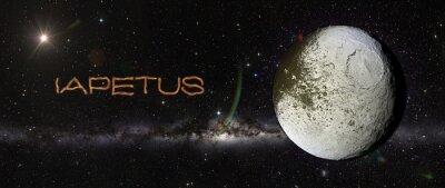 Vinilo Iapetus en el espacio exterior.