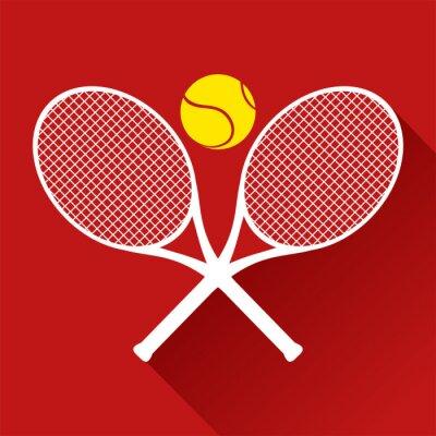 Vinilo Icono agradable del tenis