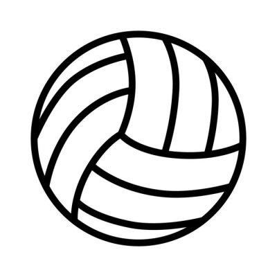 Vinilo Icono de arte de línea de bolas de voleibol para aplicaciones y sitios web de deportes