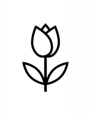 Vinilo icono de flor de tulipán