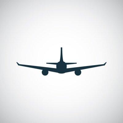 Vinilo icono de un avión