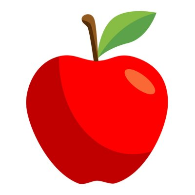 Vinilo Icono manzana