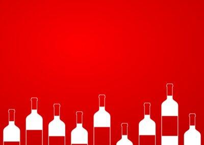 Vinilo Icono plano botellas de vino sin alinear sobre fondo degradado # 1