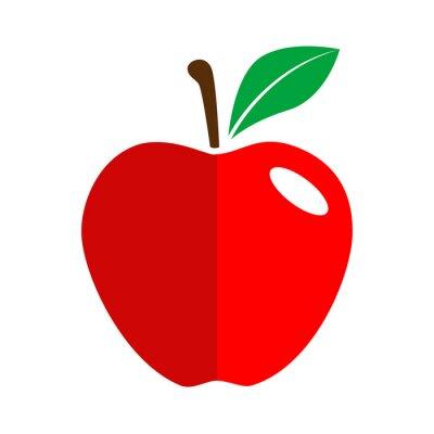 Vinilo Icono plano manzana