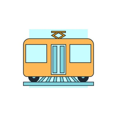 Vinilo Icono vista del tranvía