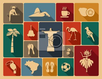 Vinilo Iconos brasileños
