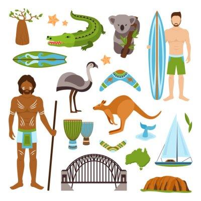 Vinilo Iconos de Australia se establecen