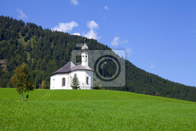 Vinilo Iglesia Anna en el Lago Achensee Tirol, Austria
