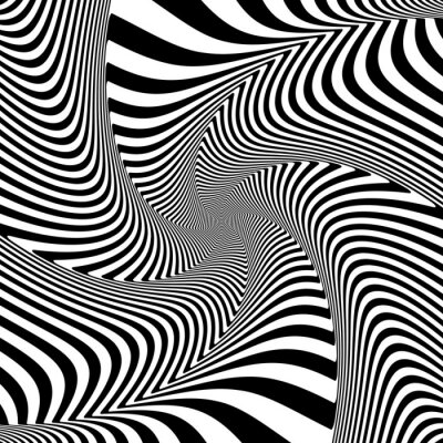 Vinilo Illusion of torsion twisting movement.
