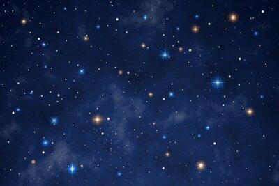 Vinilo Illustration of a beautiful night sky