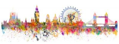 Vinilo Ilustración abstracta del horizonte de Londres