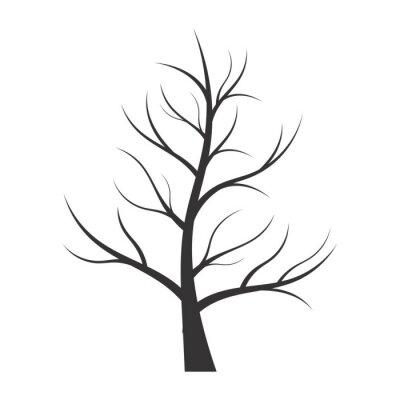 Vinilo Ilustración abstracta - silueta del árbol