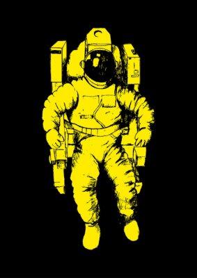 Vinilo Ilustración Boceto de un astronauta