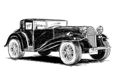 Vinilo Ilustración clásica retro del vector del coche del vintage retro