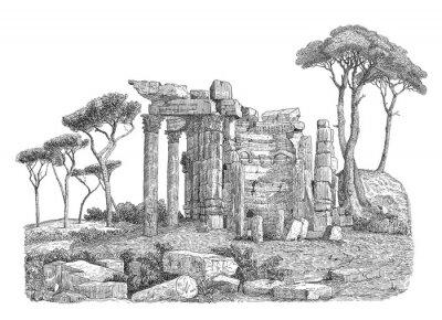 Vinilo Ilustración de columna griega antigua