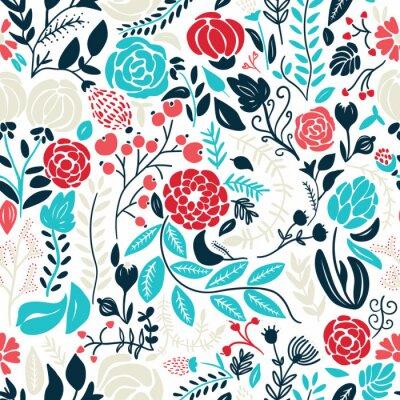Vinilo Ilustración de hermosas flores dibujadas a mano