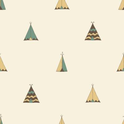 Vinilo Ilustración de la tienda del verano del nativo americano del Teepee en vector.