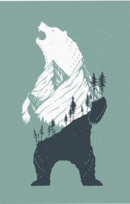 Vinilo Ilustración de oso de pie