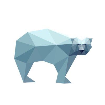 Vinilo Ilustración de oso poligonal
