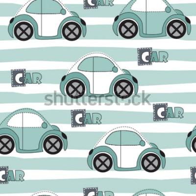 Vinilo Ilustración de vector de patrón de coche