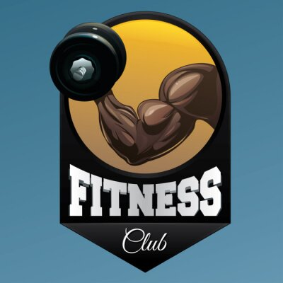 Vinilo Ilustración del emblema del club de fitness