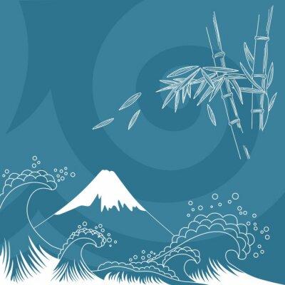 Vinilo Ilustración del estilo de Japón