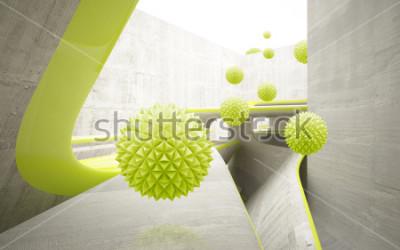 Vinilo Ilustración del patrón de bola de cristal verde 3D en papel tapiz de fondo decorativo 3D. Arte grafico moderno