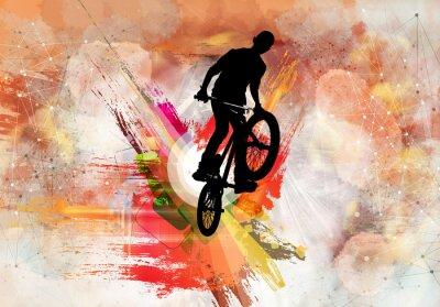 Vinilo Ilustración del puente de bicicleta