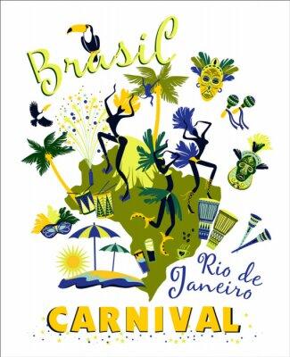 Vinilo Ilustración del vector del Carnaval de Brasil.