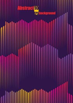 Vinilo Ilustración musical colorida abstracta. Eps10 ilustración vectorial